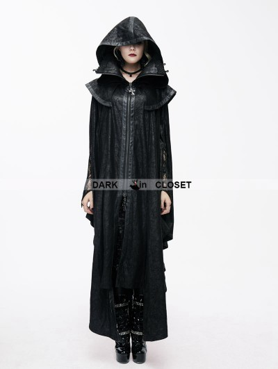 Devil Fashion Black Gothic Big Cape for Women
