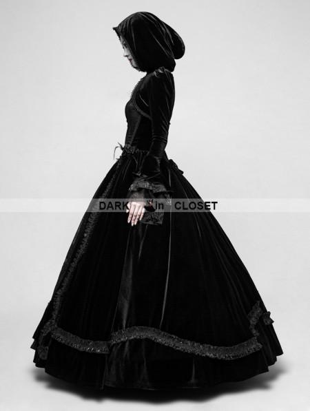 Punk Rave Black Romantic Gothic Ball Gown Long Dress ...