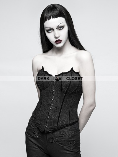 Punk Rave Black Gothic Bat Corset