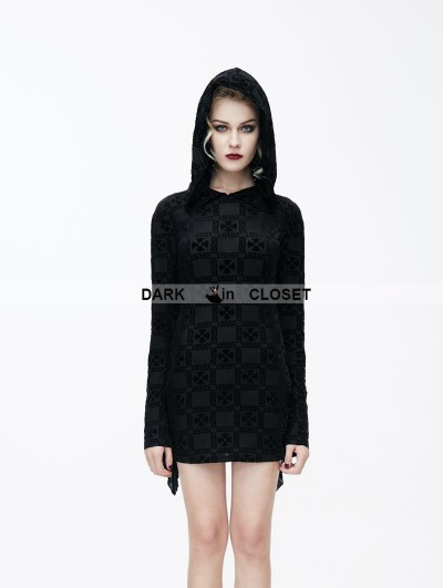 Devil Fashion Black Gothic Witch Printing Pattern Short Dress