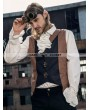 RQ-BL Brown and Black Industrial Steampunk Man Vest
