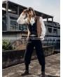 RQ-BL Brown and Black Industrial Steampunk Man Vest