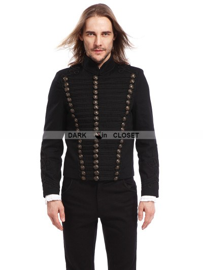 Pentagramme Black Gothic Vintage Short Jacket for Men