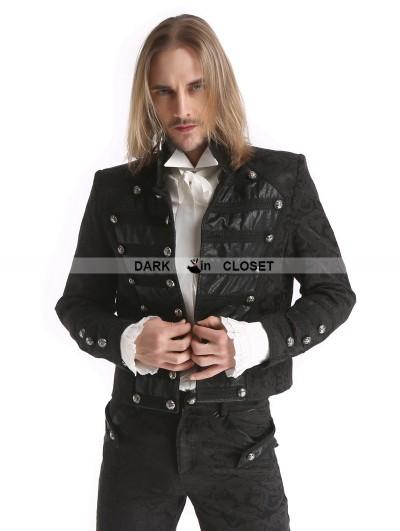 Pentagramme Black Vintage Pattern Gothic Short Jacket for Men
