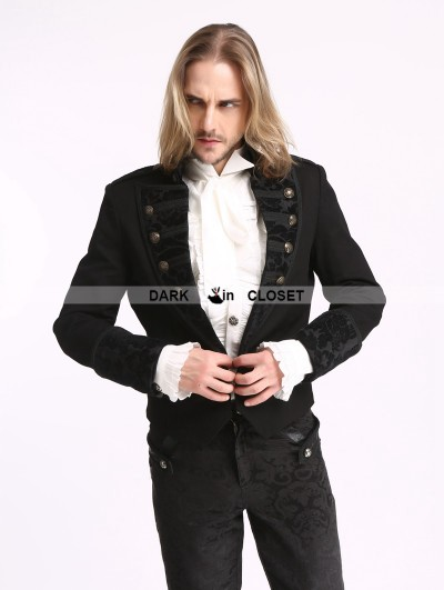 Pentagramme Black Vintage Pattern Gothic Short Jacket for Men