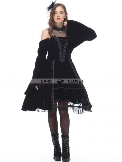 Dark in Love Black Noble Velet Gothic Princess Dress