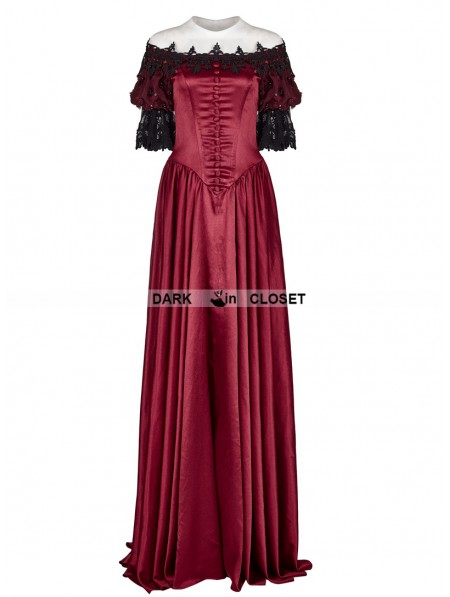 27ed51d78750 ... Punk Rave Red Victorian Vintage Palace Ball Gown Dress ...