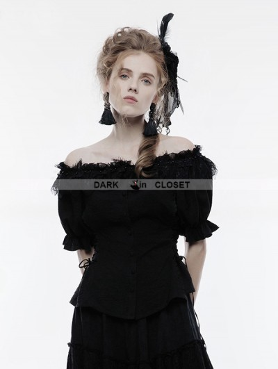 Punk Rave Black Gothic Lolita Sweet Shirt for Women