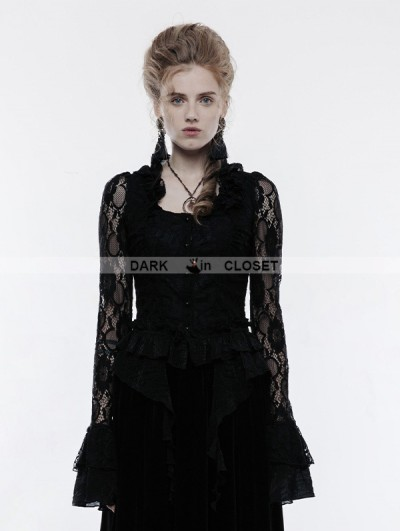 Punk Rave Black Gothic Gorgeous Lace Outwear for Women