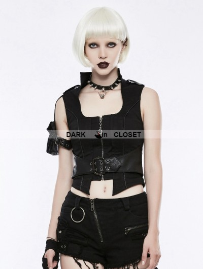 Punk Rave Black Gothic Handsome Punk Vest for Women