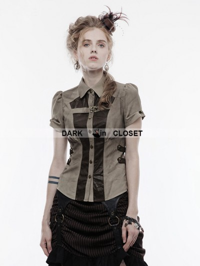 Punk Rave Gothic Handsome Punk Shirt for Women