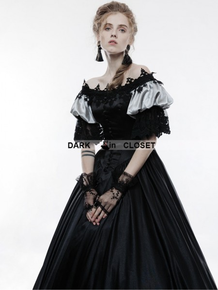 Punk Rave Black Victorian Vintage Palace Long Ball Gown