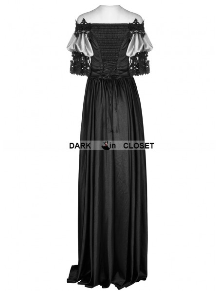 Punk Rave Black Victorian Vintage Palace Long Ball Gown Dress