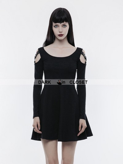 Punk Rave Black Gothic Slim Punk Dress
