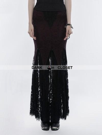 Punk Rave Gothic Lace Mermaid Half Skirt