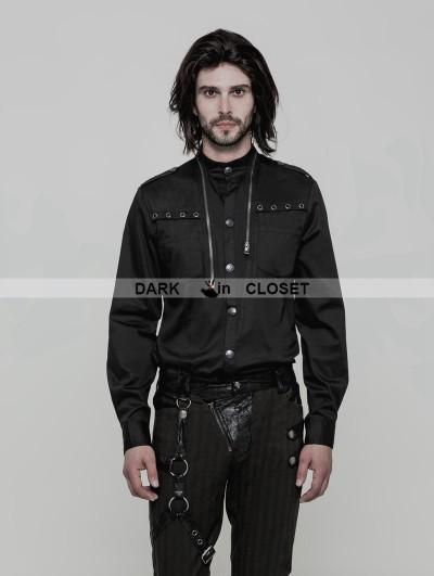 Punk Rave Black Gothic Uniform Punk Shirt for Men