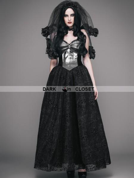 Eva lady black gothic ball dress with deer ornaments for Eva my lady wedding dress