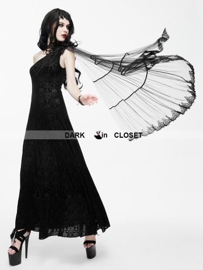 Eva Lady Black Gothic Goddess One-Shoulder Dress