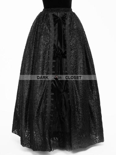 Eva Lady Black Gothic Lace Long Ball Skirt