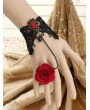 Handmade Lace Flower Gothic Bracelet Ring Jewelry