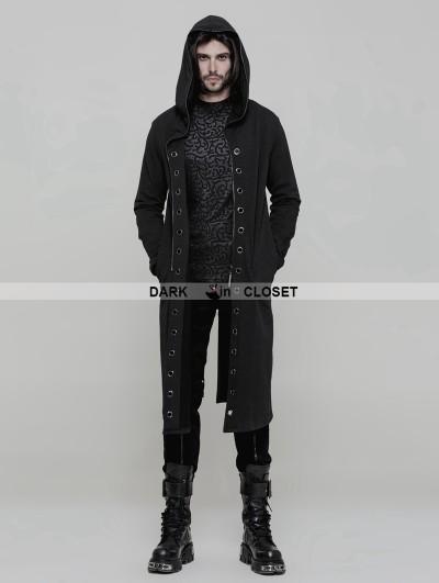 Punk Rave Black Gothic Punk Long Trench Coat for Men