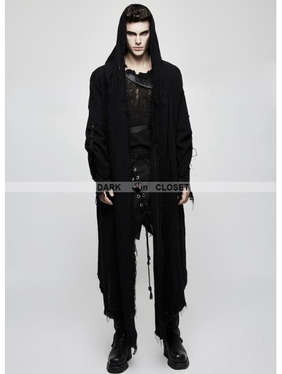 Punk Rave Black Gothic Punk Dark Death Cloak Coat for Men