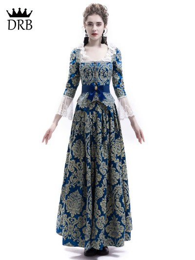 Rose Blooming Victorian Civil War Queen Ball Gown Dress