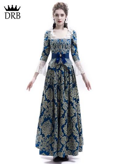 Rose Blooming Victorian Civil War Queen Ball Gown Dress