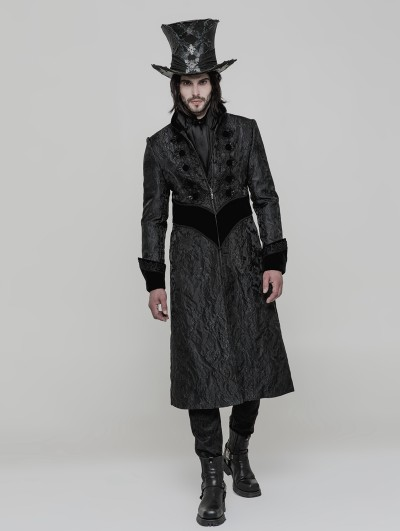 Punk Rave Gothic Victorian Gorgeous Long Coat for Men