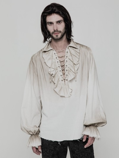 Punk Rave Iovry Steampunk Long Sleeve Shirt for Men