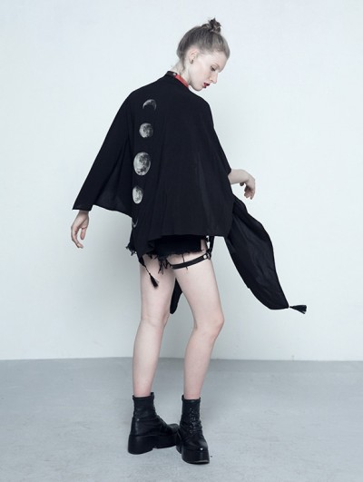 Punk Rave Black Gothic Summer Cape for Women