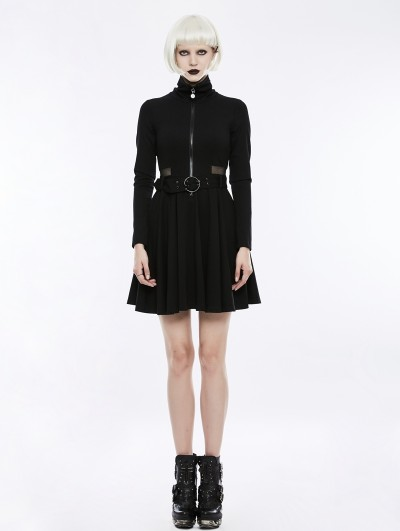 Punk Rave Black Gothic Punk Handsome Dress