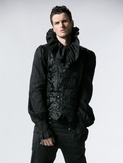 Punk Rave Gothic Vintage Palace Printed Vest for Men
