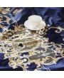 Blue Vintage Crown Embroidery Comforter Set