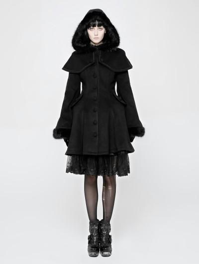 Punk Rave Black Gothic Lolita Swallow Tail Dress Coat for Women