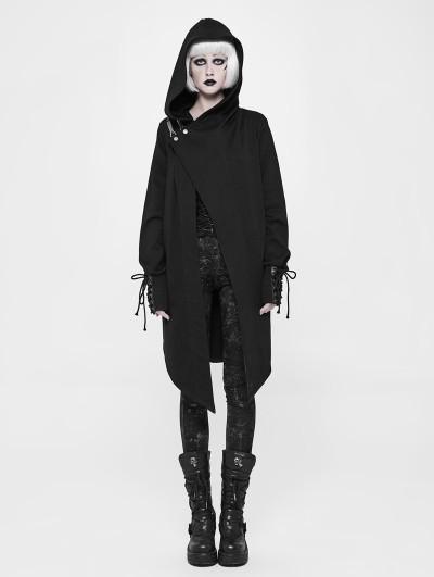 Punk Rave Black Gothic Punk Cardigan Sweater Coat for Women