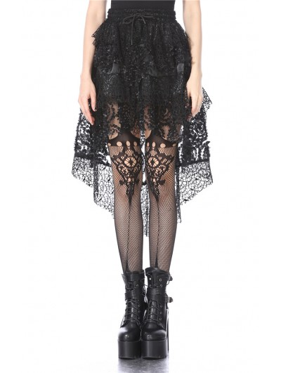 Dark in Love Black Gothic Punk Messy Short Skirt