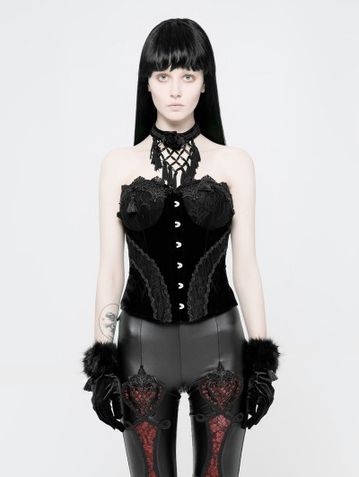 Punk Rave Black Gothic Gorgeous Lace Corset
