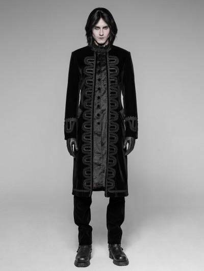 Punk Rave Black Gothic Victorian Gorgeous Court Coat for Men