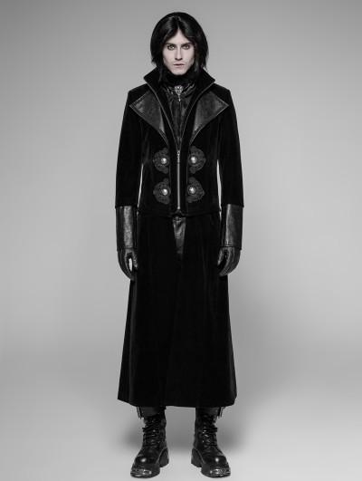 Punk Rave Black Detachable Gentleman Style Gothic Jacket for Men