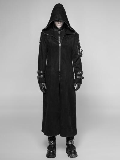 Punk Rave Black Gothic Punk Playerunknown's Battleground Three-quarter Coat