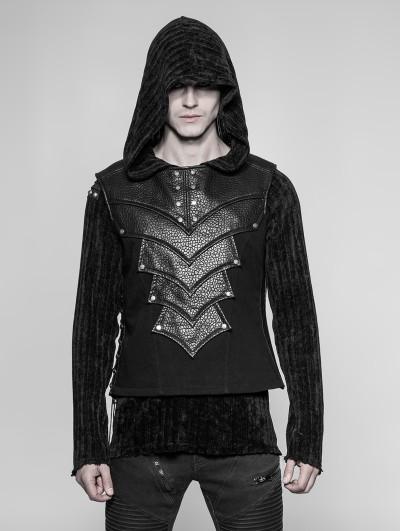 Punk Rave Black Gothic Punk Chest Protector Vest Top for Men