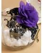Handmade Black Lace Purple Flower Gothic Bracelet Ring Jewelry