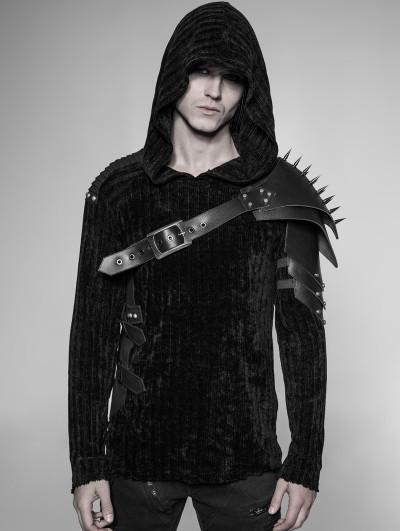 Punk Rave Black Gothic Punk Cone Nail Armor Accessory