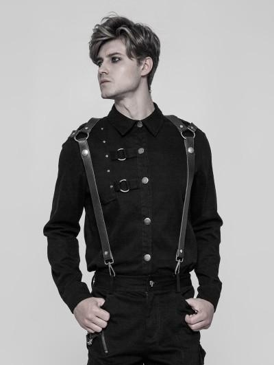 Punk Rave Black Gothic Punk Shoulder Strap Accessory