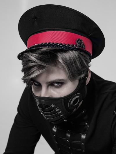 Punk Rave Black Gothic Punk Mask for Men