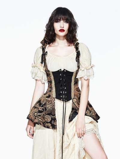 Devil Fashion Vintage Gothic Victorian Vest for Women