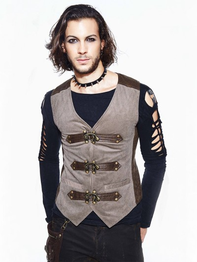Devil Fashion Vintage Steampunk Vest for Men