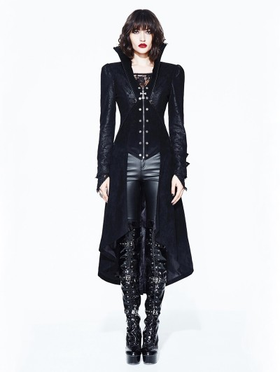 Devil Fashion Black Gothic Dark Queen Jacket for Women