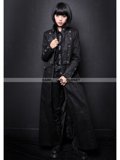 Pentagramme Black Long Gothic Coat for Women
